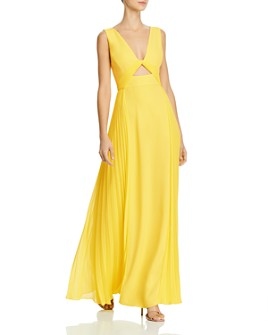 BCBGMAXAZRIA - Pleated Cutout Gown