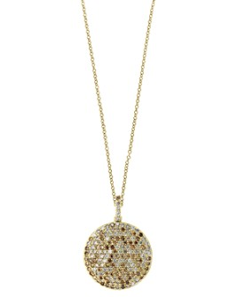 Bloomingdale's - Espresso Diamond Pendant Necklace in 14K Yellow Gold - 100% Exclusive