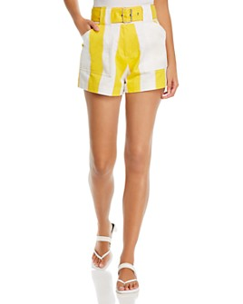 Derek Lam 10 Crosby - Monterey Striped Belted Shorts