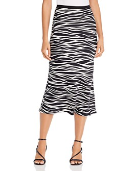 Anine Bing - Bar Silk Printed Midi Skirt