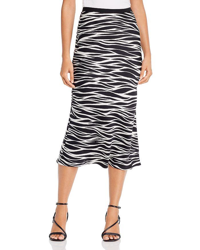 Anine Bing - Bar Silk Printed Midi Skirt