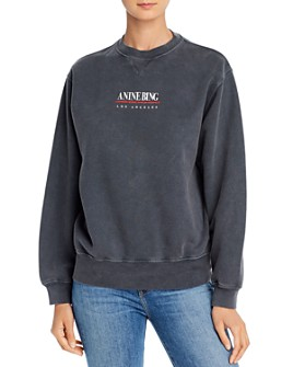 Anine Bing - Cotton Ramona Logo Sweatshirt