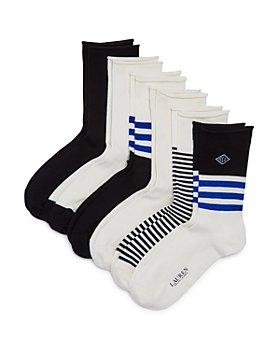 Ralph Lauren - Striped Roll-Top Trouser Socks, Pack of 6