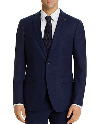 John Varvatos Star USA - Bleecker Micro-Check Slim Fit Suit Jacket