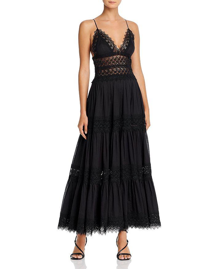 Charo Ruiz Ibiza - Cindy Crochet-Inset Plunging Maxi Dress