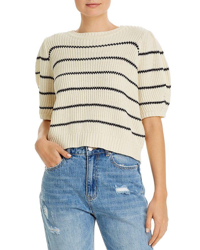 Vero Moda - Crochet Striped Cropped Sweater