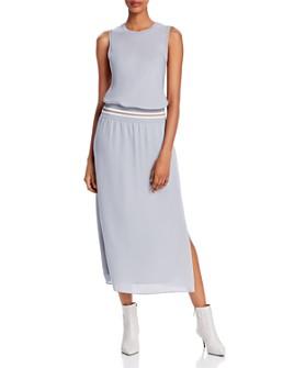 Theory - Sport-Stripe Silk Lewie Midi Dress