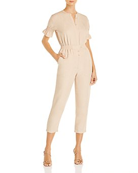 Joie - Fritzie Smocked Cropped Jumpsuit