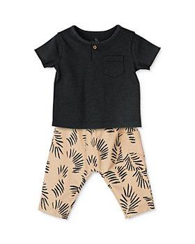 Oliver & Rain - Unisex Cotton Palm Print Knit Top & Pants Set - Baby