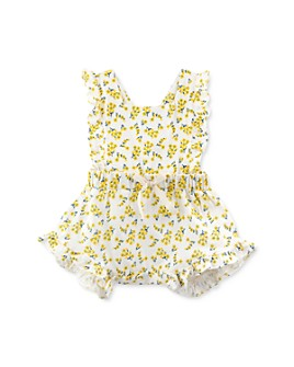 Oliver & Rain - Girls' Cotton Ditsy Floral Romper - Baby