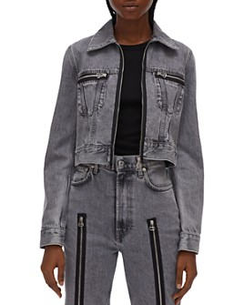 Helmut Lang - Fem Cotton Zipper Detail Trucker Jacket