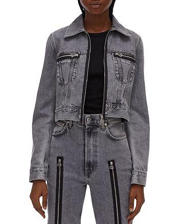 Helmut Lang - Fem Cotton Zipper Detail Trucker Jacket