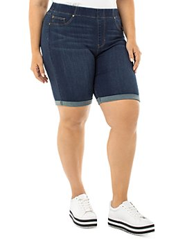 Liverpool Los Angeles Plus - Chloe Bermuda Jean Shorts in Griffith