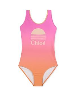 Chloé - Girls' Sunset Logo Swimsuit - Little Kid, Big Kid