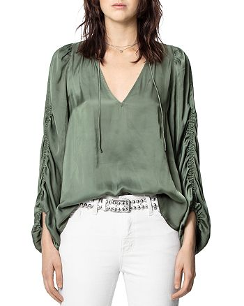 Zadig & Voltaire - Gathered-Sleeve Blouse