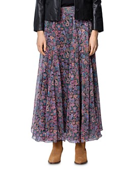 Zadig & Voltaire - Paisley-Print Sequin-Embellished Maxi Skirt