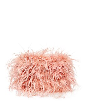 Loeffler Randall - Zelda Mini Feathered Baguette Crossbody Clutch