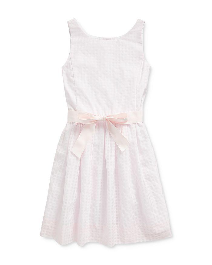Ralph Lauren POLO RALPH LAUREN GIRLS' WINDOWPANE DRESS - BIG KID
