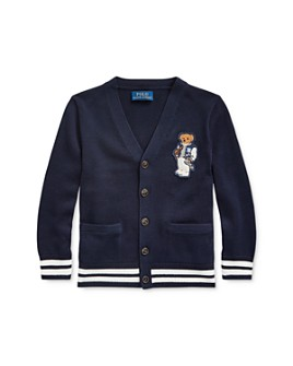 Ralph Lauren - Boys' Football Bear Cotton Cardigan - Little Kid