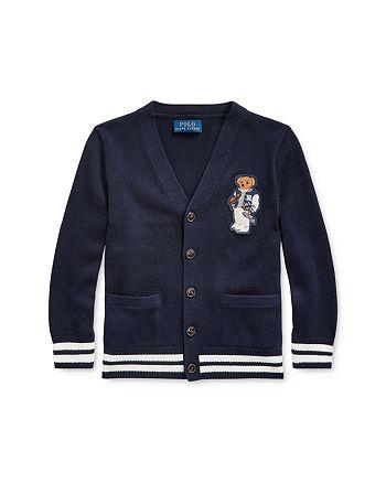 Ralph Lauren - Boys' Football Bear Cotton Cardigan - Little Kid