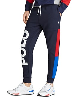 Polo Ralph Lauren - Colorblocked Graphic Fleece Jogger Pants