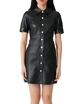 Maje - Ripoli Lambskin Leather Dress