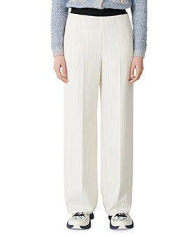 Maje - Pimpo Striped Wide-Leg Pants