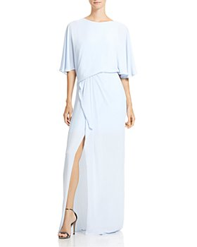 HALSTON - Draped-Back Gown