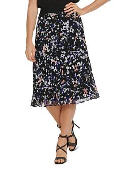 DKNY - Printed Pleated Skirt