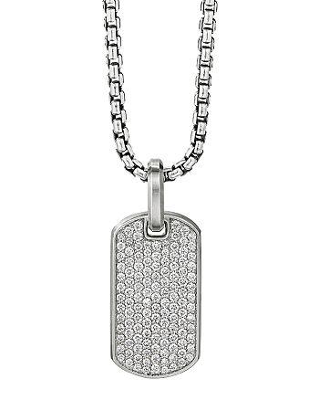 David Yurman - Streamline® Tag Pendant with Pavé Diamonds
