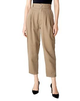 J Brand - Mavis High-Rise Wide-Leg Trouser Jeans in Lalia