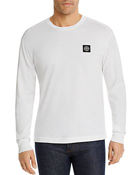 Stone Island - Cotton Solid Logo-Patch Tee