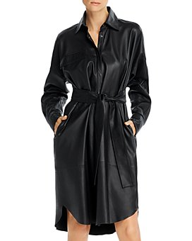 REMAIN - Birger Christensen Bologna Leather Shirt Dress