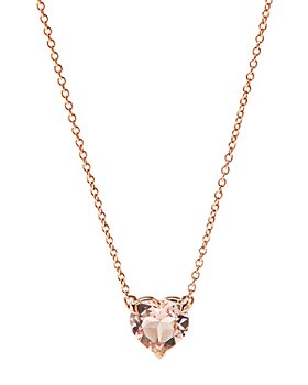 David Yurman - Cable Heart Pendant Necklace in 18K Rose Gold with Morganite, 18""