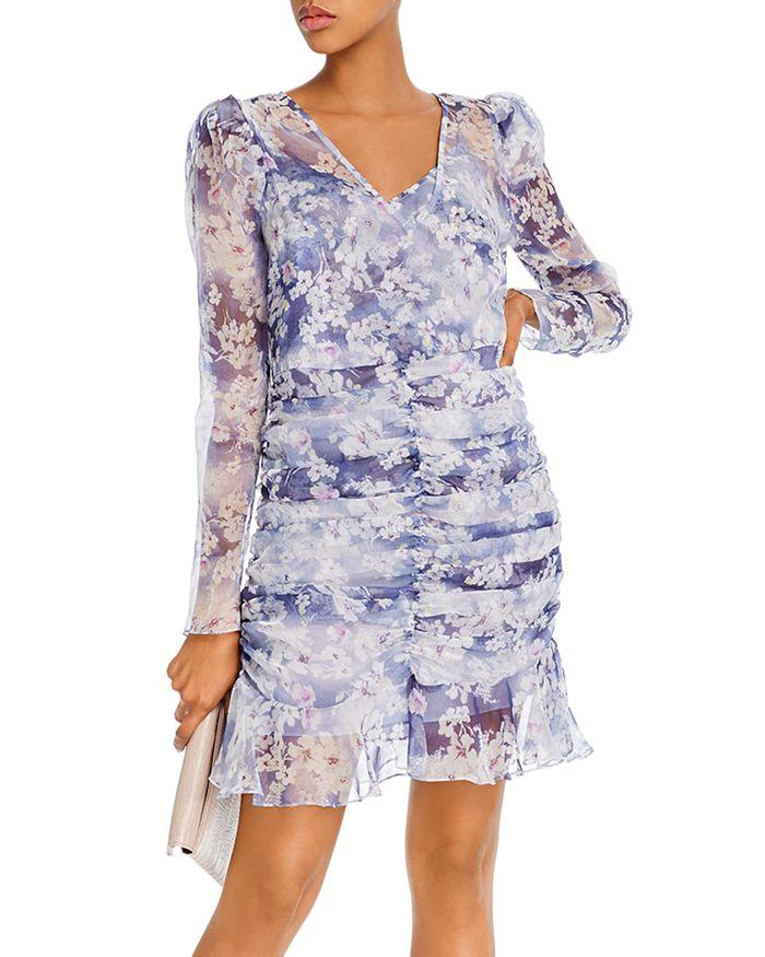AQUA - Ruched Puff-Sleeve Dress - 100% Exclusive