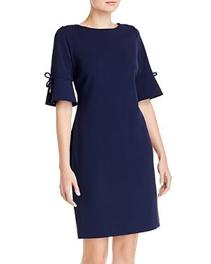 Karl Lagerfeld Paris Scuba Crepe Elbow-Sleeve Dress-Women