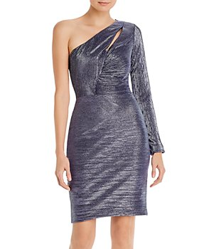 AQUA - One-Shoulder Cocktail Dress - 100% Exclusive