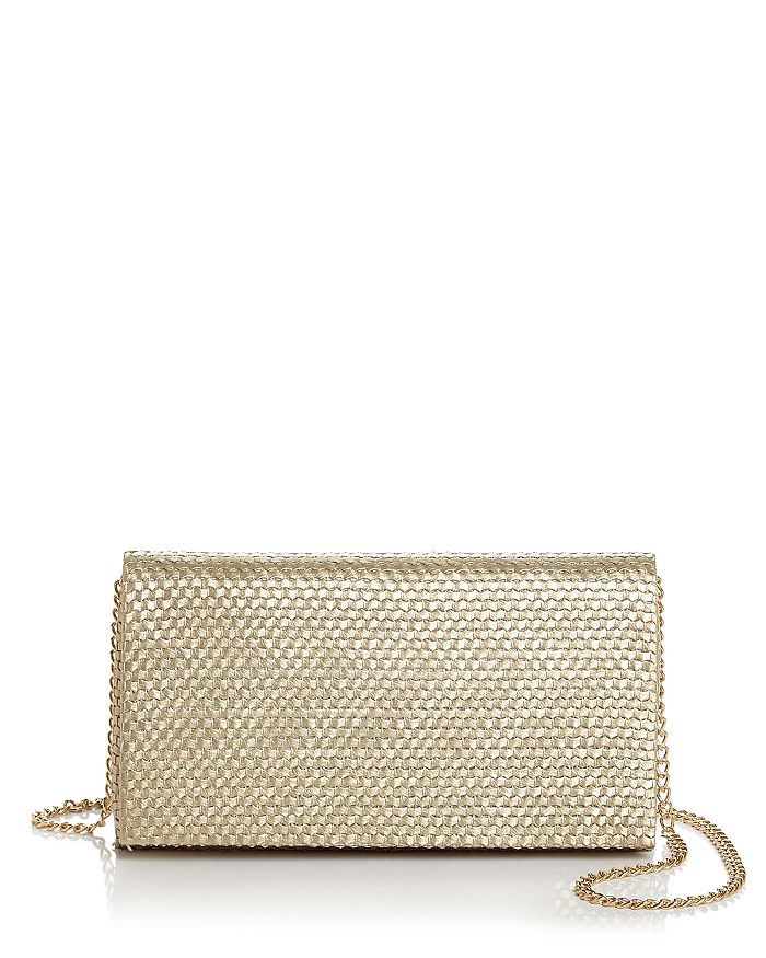Aqua Woven Clutch - 100% Exclusive In Gold/gold