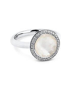 IPPOLITA - Sterling Silver Lollipop Clear Quartz, Mother-of-Pearl & Diamond Carnevale Ring