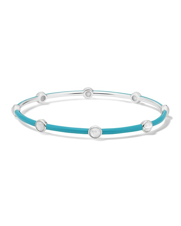 IPPOLITA - Lollipop Mother-Of-Pearl Aquamarine Carnevale Bangle Bracelet