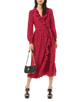 MICHAEL Michael Kors - Printed Wrap Dress