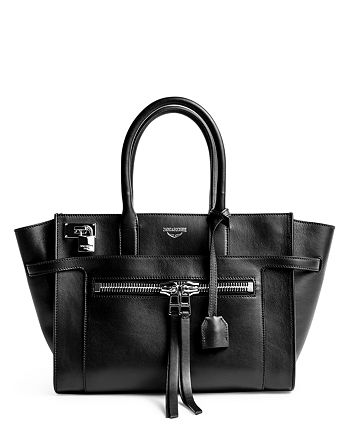 Zadig & Voltaire - Candide Medium Smooth Leather Handbag