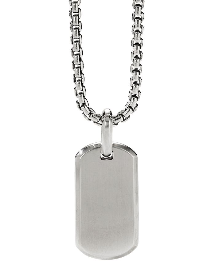 David Yurman - Streamline® Tag Pendant in Sterling Silver