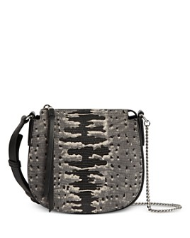ALLSAINTS - Ely Mini Embossed Leather Crossbody Bag