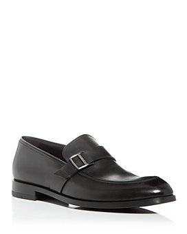 Ermenegildo Zegna - Men's Siena Flex Leather Apron-Toe Loafers