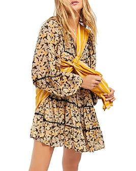 Free People - Free Swinging Printed Mini Dress