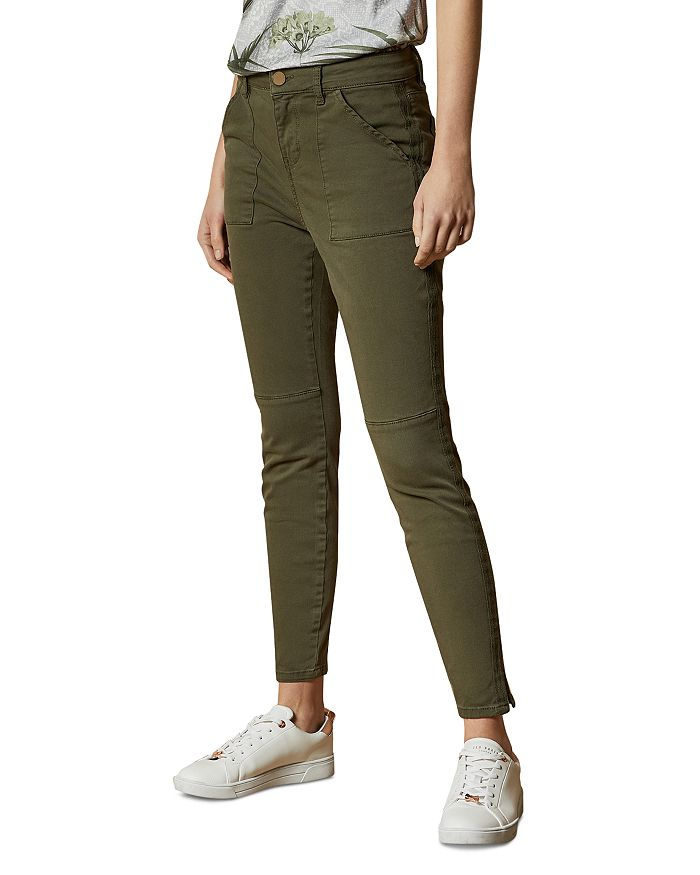 Ted Baker Combat Skinny Jeans In Olive