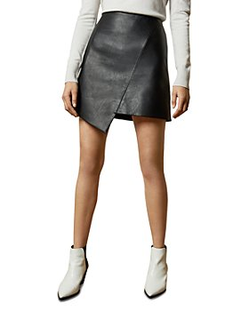 Ted Baker - Oolive Asymmetric Faux Leather Mini Skirt