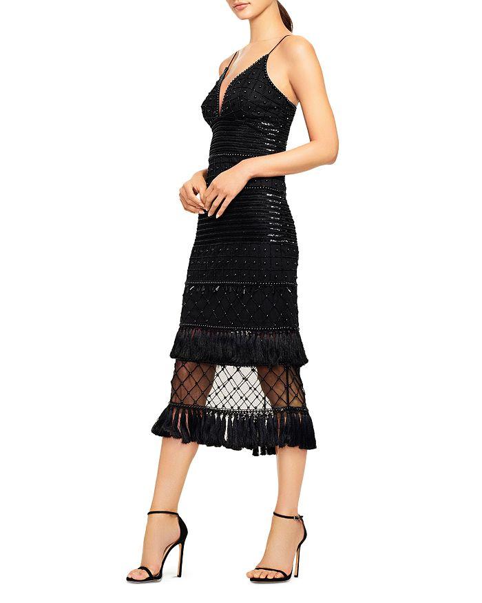 Aidan by Aidan Mattox - Beaded Midi Dress