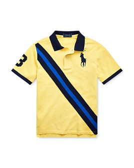 Ralph Lauren - Boys' Cotton Stripe Polo Shirt - Big Kid